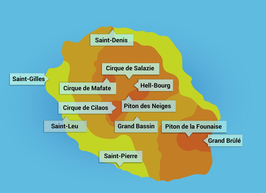 Výstup na nejvyšší horu Piton des Neiges